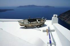 Santorini nos detalhes Foto de Stock