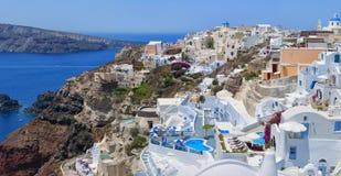 Santorini Oia全景01 库存图片