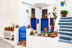 santorini oia дома стоковая фотография