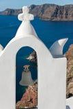 santorini oia колокола к Стоковое Изображение RF