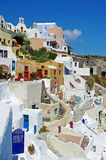 Santorini - Oia. View of Oia city on romantic Santorini island Royalty Free Stock Image