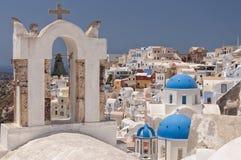 Santorini Oia Belltower Stock Photos