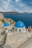 Santorini Oia Church Caldera View Royalty Free Stock Image