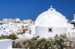 Santorini Oia Church Rear Stock Photo
