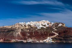 Santorini, Oia city and the Aegean Sea, Greece Royalty Free Stock Photo
