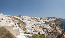 Santorini Oia Cityscape Looking Left Royalty Free Stock Image