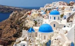 Santorini Oia Classic View Stock Photo