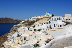 Santorini Oia Cliff Royalty Free Stock Photos