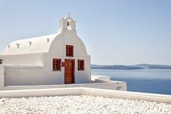 Santorini Oia kyrka 11 Royaltyfri Bild