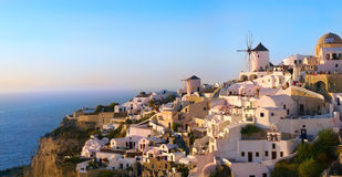 Santorini Oia sunset Stock Photo