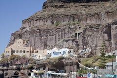 Santorini Oia wagon kolei linowej obraz royalty free