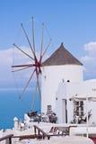 Santorini Oia Windmill Sky, Clouds Stock Photos