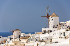 Santorini Oia Windmills Royalty Free Stock Photography