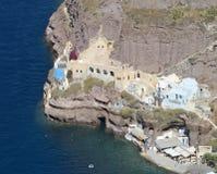 Santorini old port Stock Photo