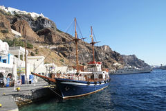 Santorini Old Port - Greek Islands Royalty Free Stock Photos