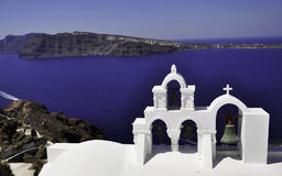 Santorini. Is one of the popular destinations for holidays in the Aegean sea Royalty Free Stock Images