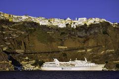 Santorini. Is one of the popular destinations for holidays in the Aegean sea Stock Image