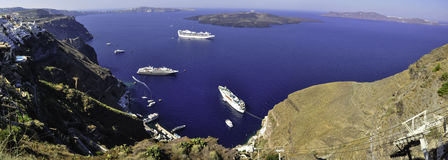 Santorini. Is one of the popular destinations for holidays in the Aegean sea Royalty Free Stock Photos