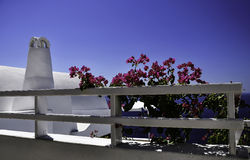 Santorini. Is one of the popular destinations for holidays in the Aegean sea Royalty Free Stock Photo