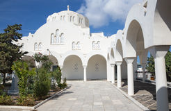 Santorini - Orthodox Metropolitan Cathedral in Fira Royalty Free Stock Photos