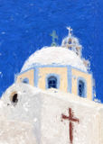 Santorini Painting 01 Stock Images
