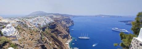 Santorini Panorama Stock Image