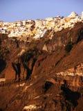 Santorini panorama Arkivfoton