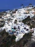 Santorini panorama Arkivfoto