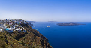 Santorini panorama - Greece Royalty Free Stock Photography