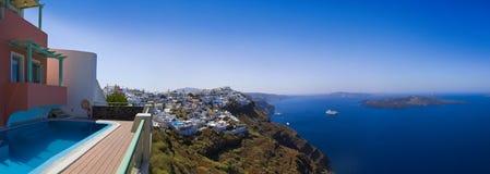 Santorini panorama - Greece Stock Photos