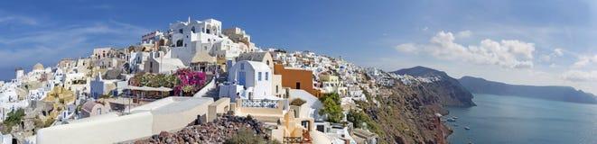 Santorini - The panorama of Oia. Royalty Free Stock Photography