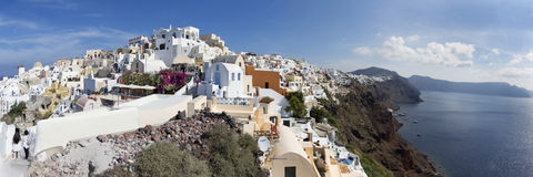 Santorini - The panorama of Oia. Royalty Free Stock Photo