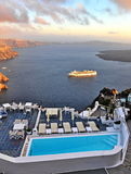 Santorini panorama Royalty Free Stock Photo