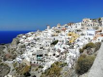 Santorini panoramic royalty free stock images