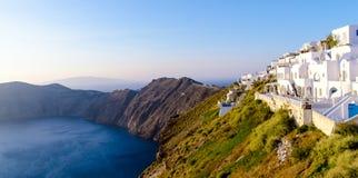 Santorini pasa por alto Fotos de archivo libres de regalías