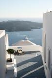 Santorini passway y patio Imagen de archivo