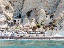 Santorini plaża Obrazy Stock
