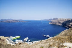 Santorini port Royalty Free Stock Images