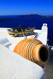 Santorini pot Stock Photography