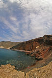 Santorini - Red beach Stock Photo