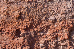 Santorini - Red pumice layers Stock Photography