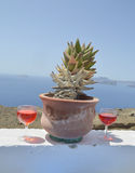 Santorini red win Royalty Free Stock Photos