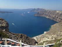 Santorini. Red wine Greece  holiday summer pictures Royalty Free Stock Images