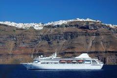 Santorini Reiseflug, Griechenland Lizenzfreie Stockbilder