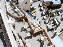 Santorini-Restaurant Stockfotografie