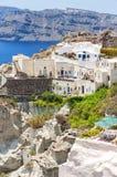 Santorini returnerar i Oia Royaltyfri Bild