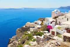 Santorini romantic island. Royalty Free Stock Photos