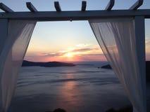 Santorini romantique Image libre de droits