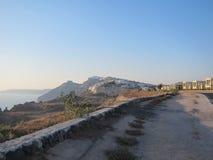 Santorini Romantische Mening royalty-vrije stock afbeelding