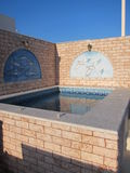 Santorini Romantische Mening Royalty-vrije Stock Foto